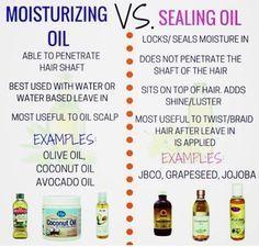 MOISTURIZING VS SEALING OIL