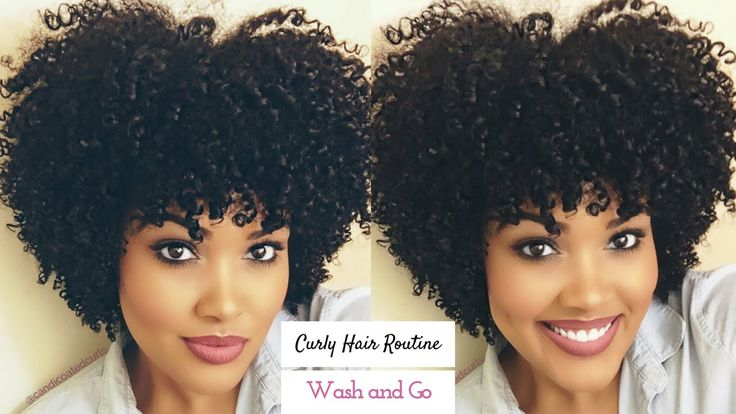 My Curly Hair Routine   Wash and Go [Video] - community.blackha...