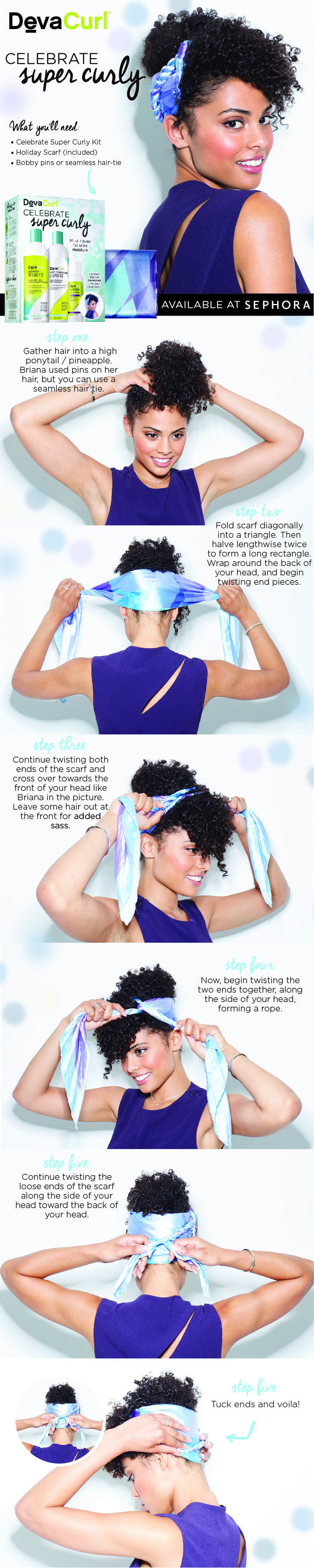 Play up your corkscrews in five easy steps with DevaCurl's Celebrate Supe...