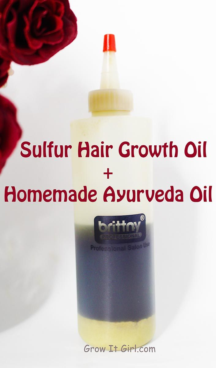 Sulfur hair growth oil recipes and how I've successfully used the mix over t...