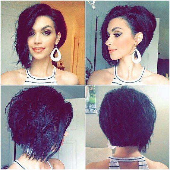 This is @nicholle_chapan's beautiful asymmetrical bob she got this summer! A...