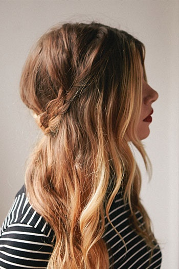 A half-up braided crown is perfect for a casual weekend / #hair