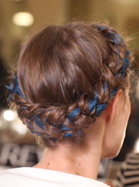 add ribbon to your braided do