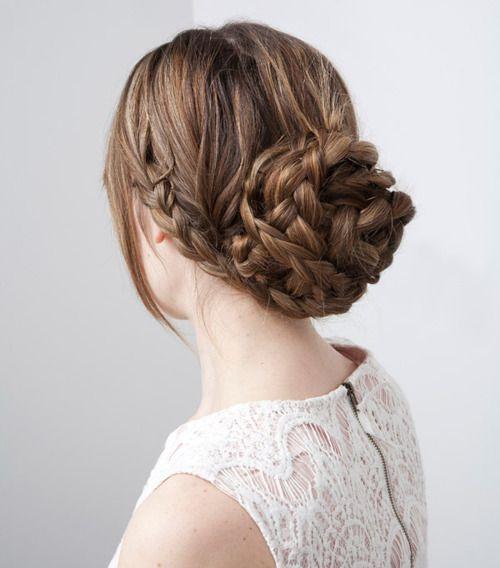 Braid Bun Updo / #hair