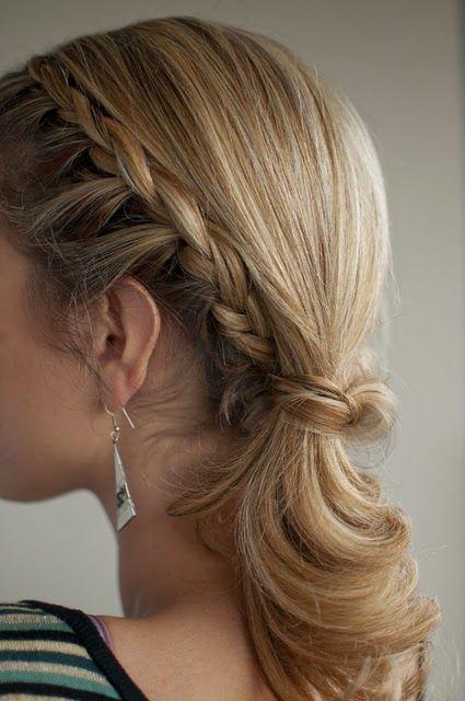 Braid into Ponytail / #hair