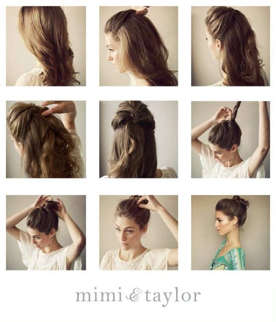 Classic bun updo / #hair