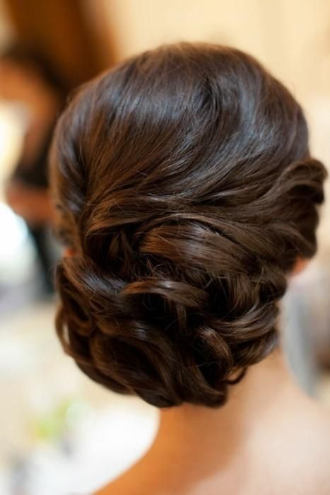 Curled side updo / #hair