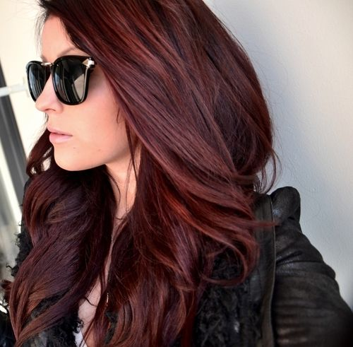 Dark red / #haircolor