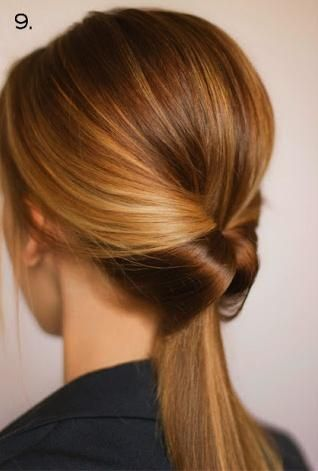 French knot ponytail / #hair