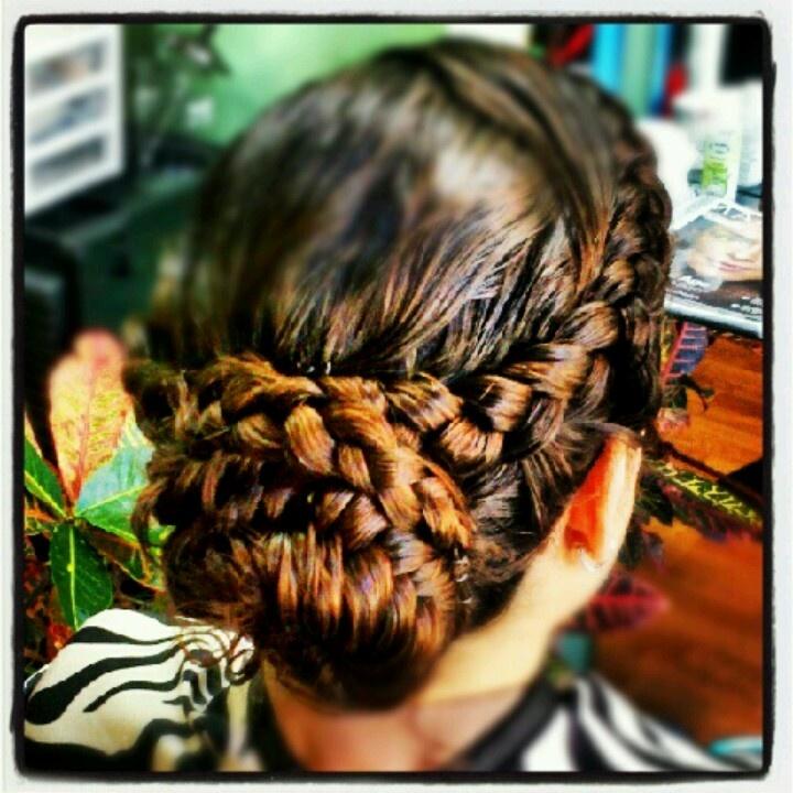 Gorgeous braid bun / Braids #hair