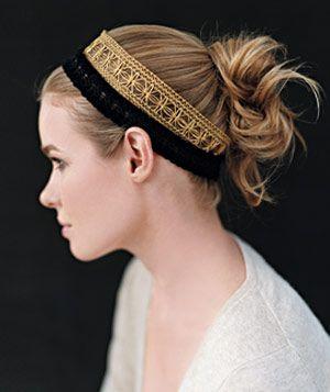 Hairbands w/ simple bun