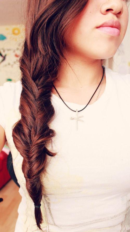 Inverted Braid / Braids #hair
