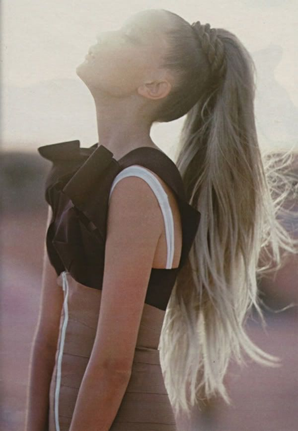 Long hair ponytail / #hair