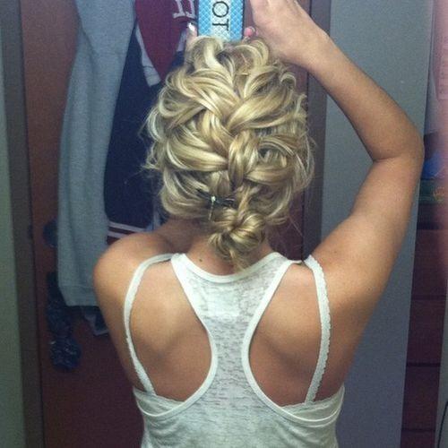 Messy French Braid Bun / Braids #hair