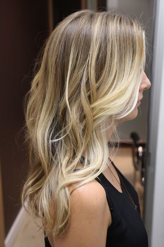 Natural Ombre Colored Hair #Blonde #Waves