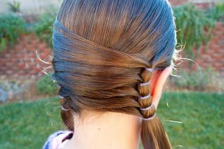 Neat pony tails! / #hair