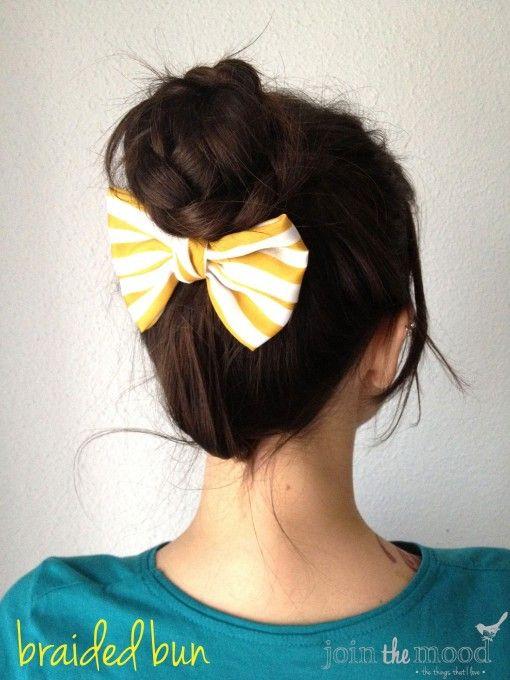 Pinterest of the Week: The Braided Updo Bun / #hair