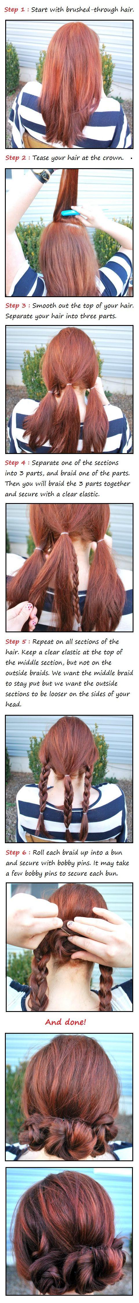 Pretty braid for long hair / Braids #hair