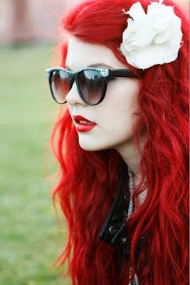 Red hair and red lipstick / #haircolor