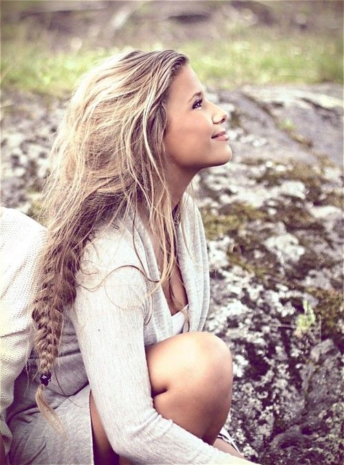 Romantic long messy braid / Braids #hair