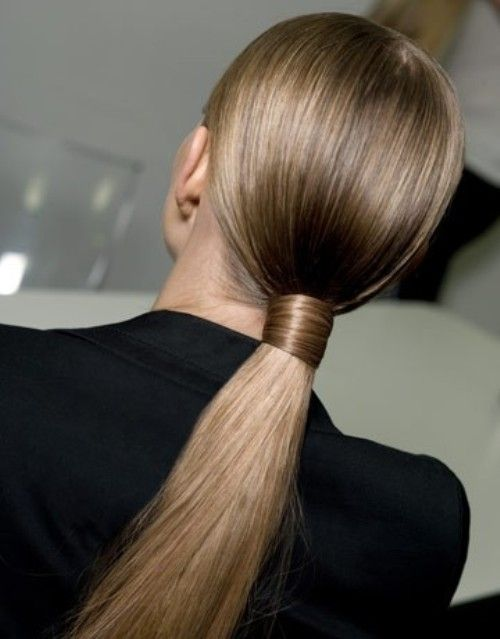Sleek and chic / Ponytail #hair