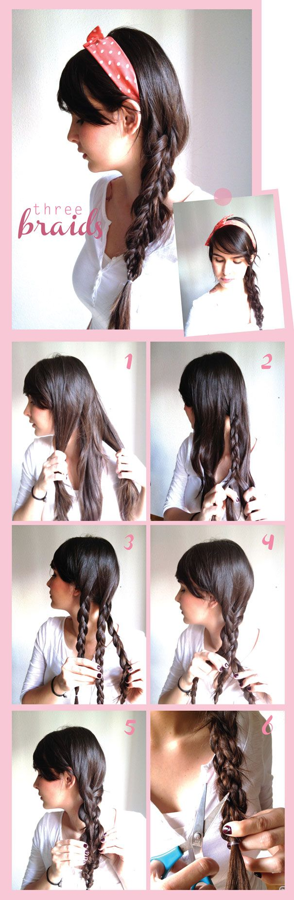 Three braids in one.
