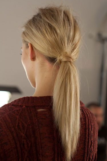 Twisted straight ponytail #hair