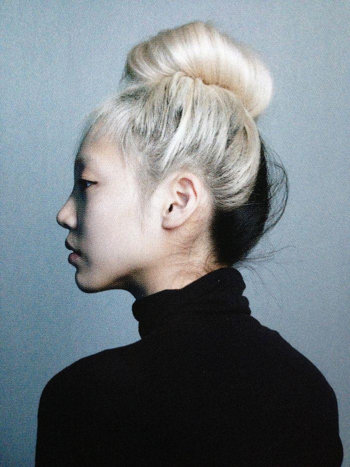 Two-tone bun #hair