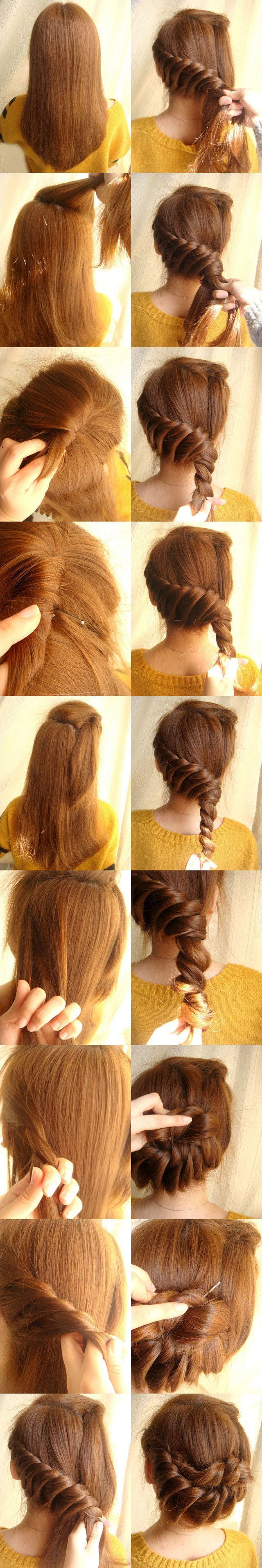 Who knew twisting your hair could look so cool? / #updo #hair