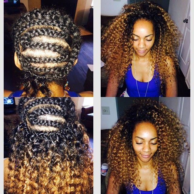American And African Hair Braiding Ombre Crochet Braids Freetress