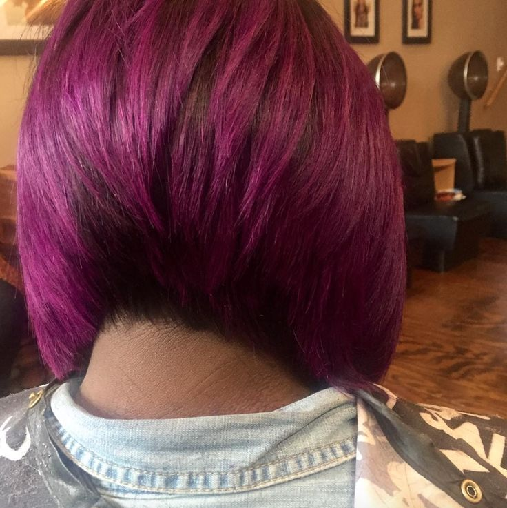 Love this purple bob via @styles_4_usalon - community.blackha...