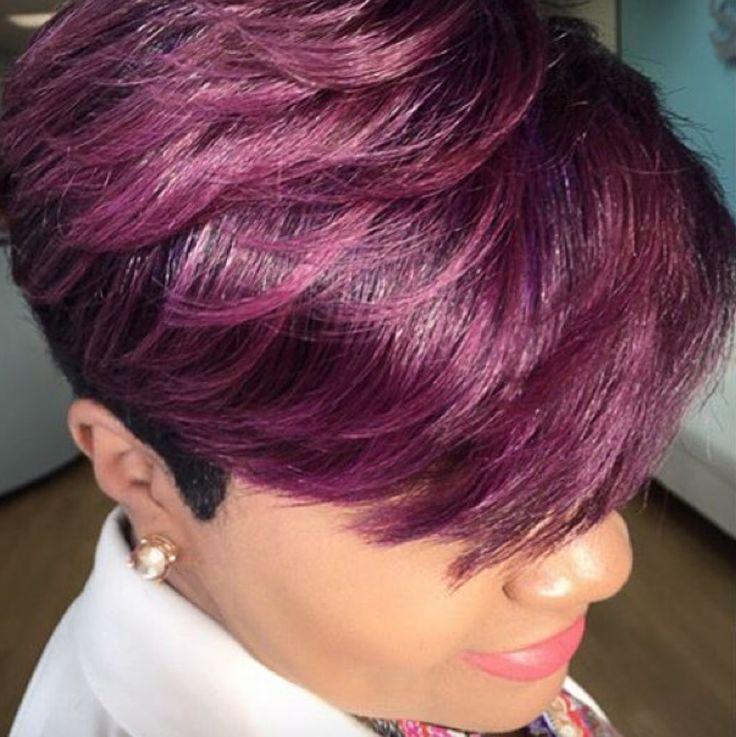 Perfect plum pixie via @salonpk - community.blackha...