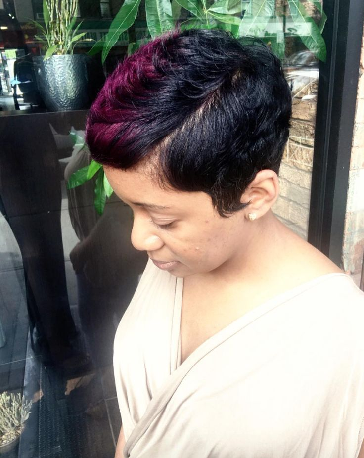 Pixie with a pop of color by @artistry4gg - community.blackha...