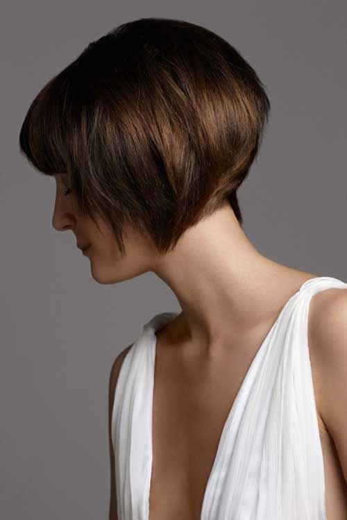 7. Very Short Thick Straight Bob Haircut Back View