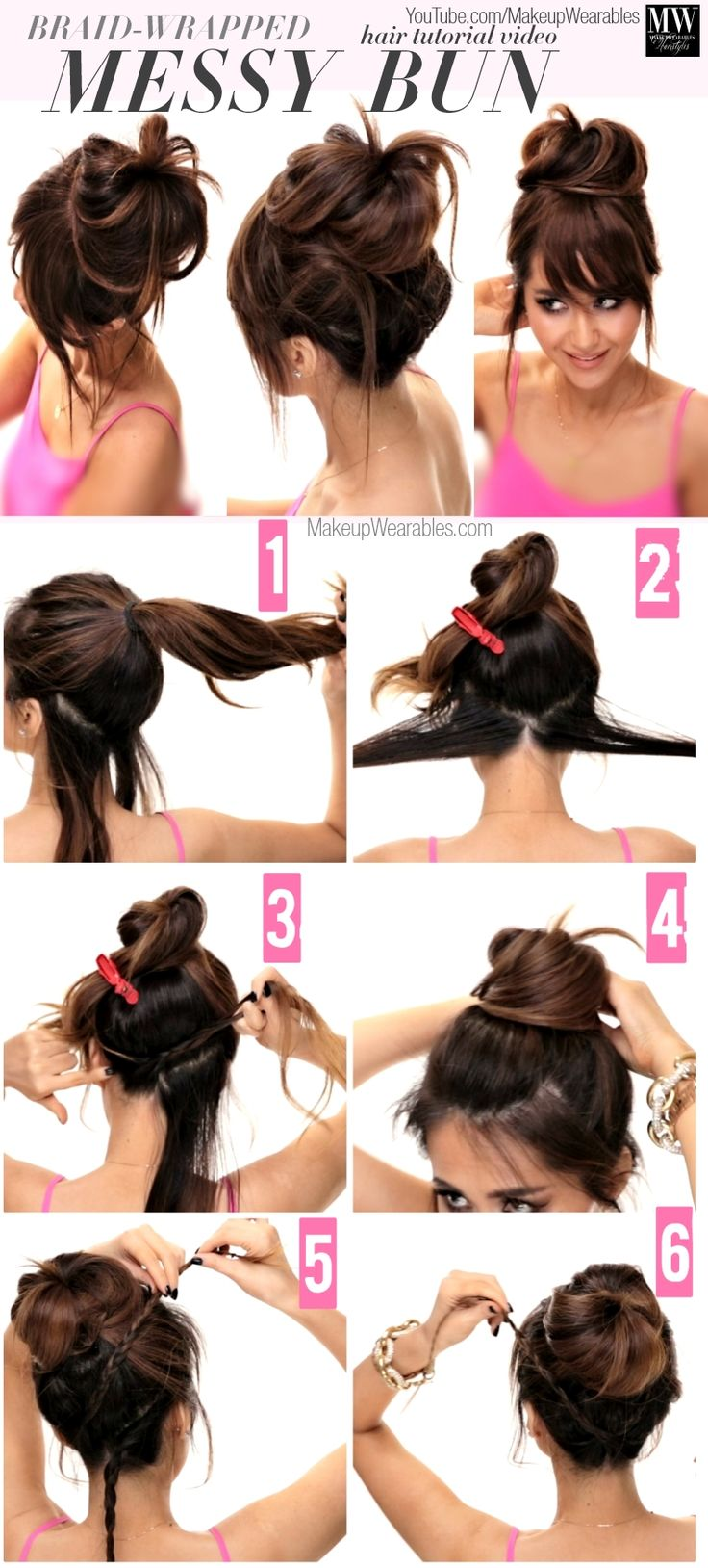 gow to create a big braided messy bun updo 4 Lazy Girls Easy Hairstyles | How to...