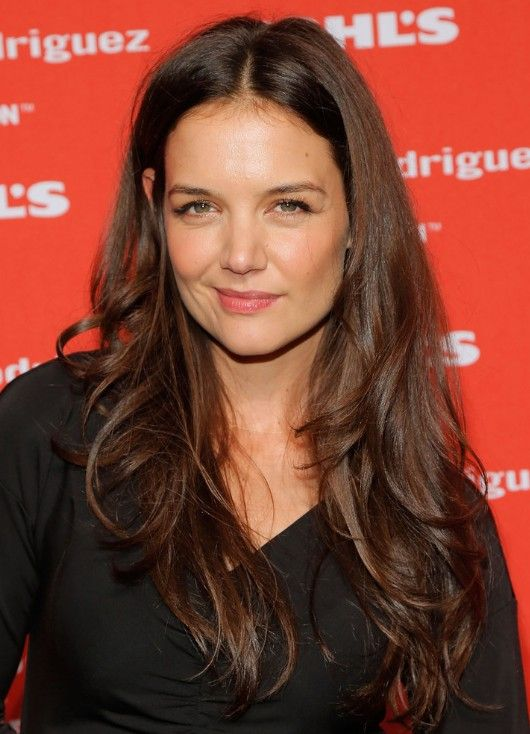 Katie Holmes Tousled layered Hairstyle