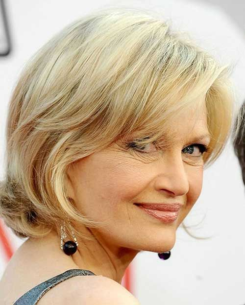 Short Side Haircuts for Mature Women