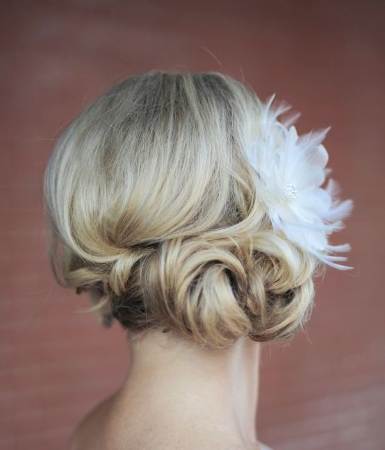 Featured Photographer: Erica Rose Photography; Wedding hairstyle idea.
