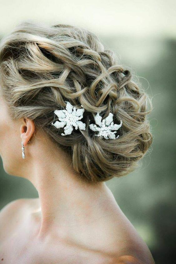 Featured Photographer: Kelly Brown Weddings; Wedding hairstyle idea.
