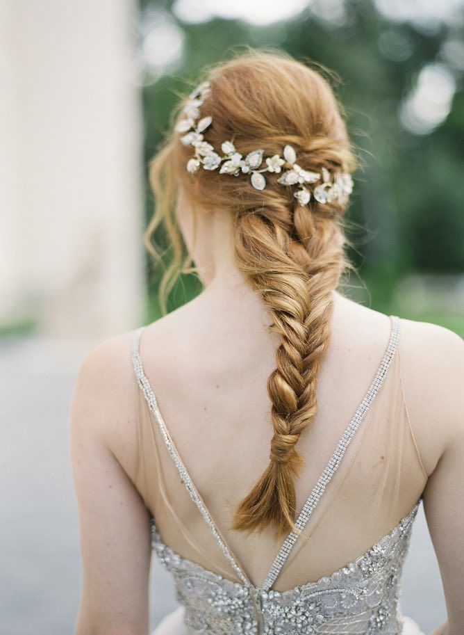 Featured Photographer:Kurt Boomer; wedding hairstyle idea