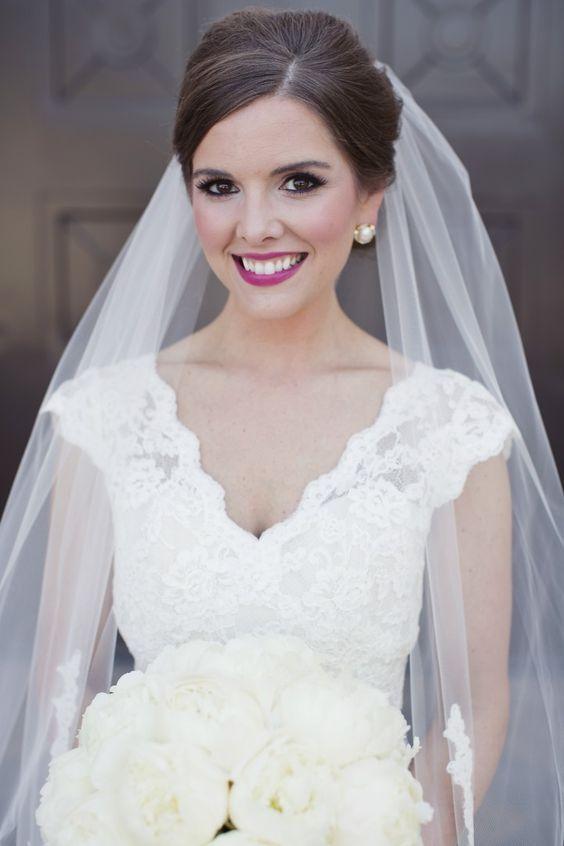 Featured Photographer: Sarah Kate Photography; Wedding hairstyle idea.