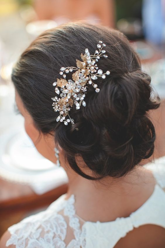 Featured Photographer: SMS Photography; Wedding hairstyle idea.
