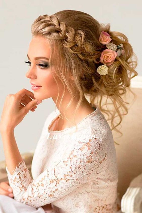 Wedding Hairstyles Side Brad Low Updo Wedding Hairstyleg Beauty