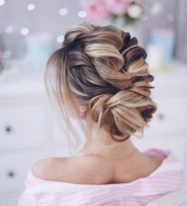 Tonya Pushkareva Long Wedding Hairstyle for Bridal via tonyastylist / www.himi...