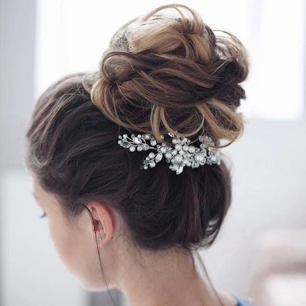 Tonya Pushkareva Long Wedding Hairstyle for Bridal via tonyastylist www.himisspu...