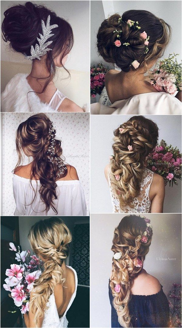 Ulyana Aster Wedding Updos and Long Wedding Hairstyles / www.deerpearlflow...