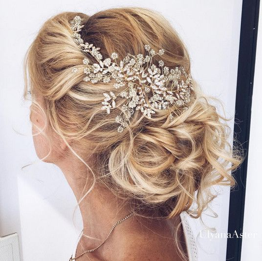 Elegant Wedding Hairstyles With Headpieces - These exquisite headpieces are all...