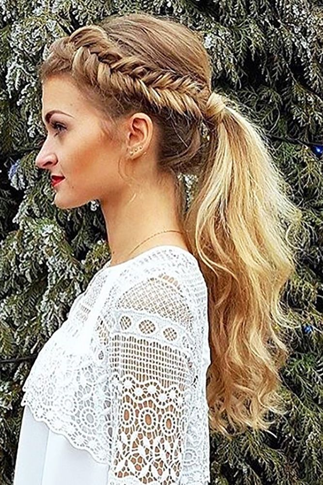 30 Party Perfect Pony Tail Hairstyles For Your Big Day ❤ See more: www.wedding...