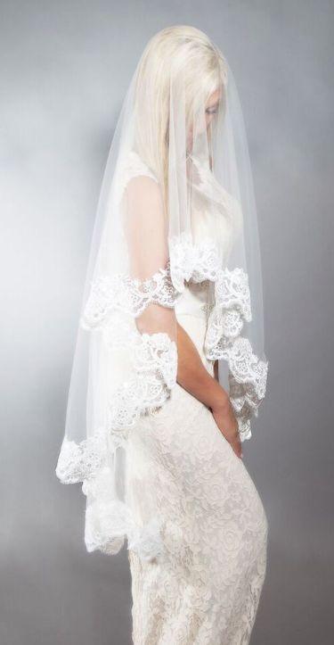 Gorgeous bridal veils from Blanca Veils
