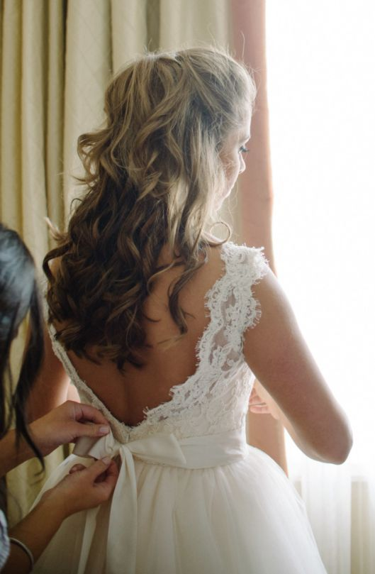 Featured Photographer: Sean Money + Elizabeth Fay; Wedding hairstyle idea.